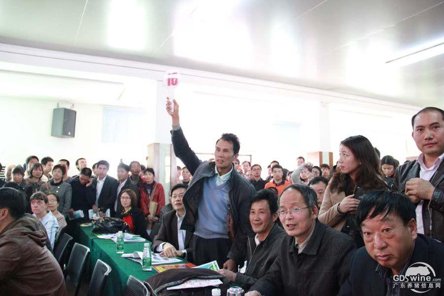 第32届养猪产业博览会(广州)种猪拍卖现场