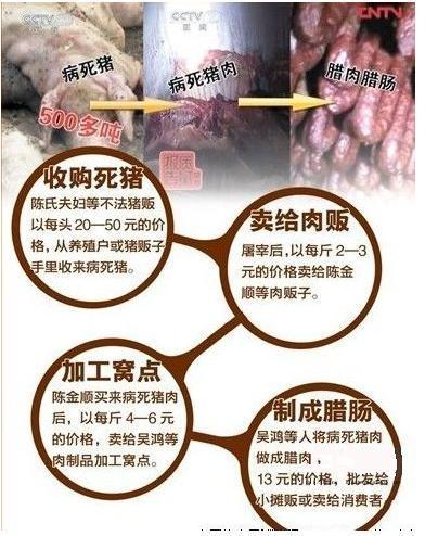 40吨病死猪肉流向餐桌 让谁羞愧!