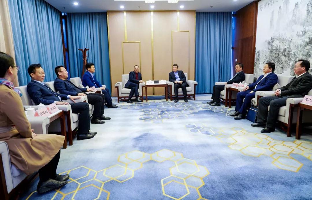 签约仪式前,李宏庆书记会见了康达尔一行