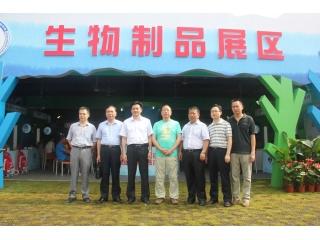 郑惠典副厅长一行参观生物制品展区