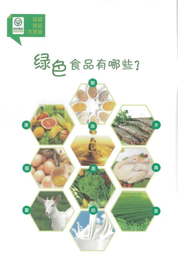什么是绿色食品?绿色食品有哪些? ――你知  我知  大家知  知识手册