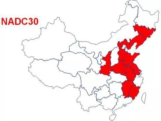 图6  NADC-30类毒株分布图