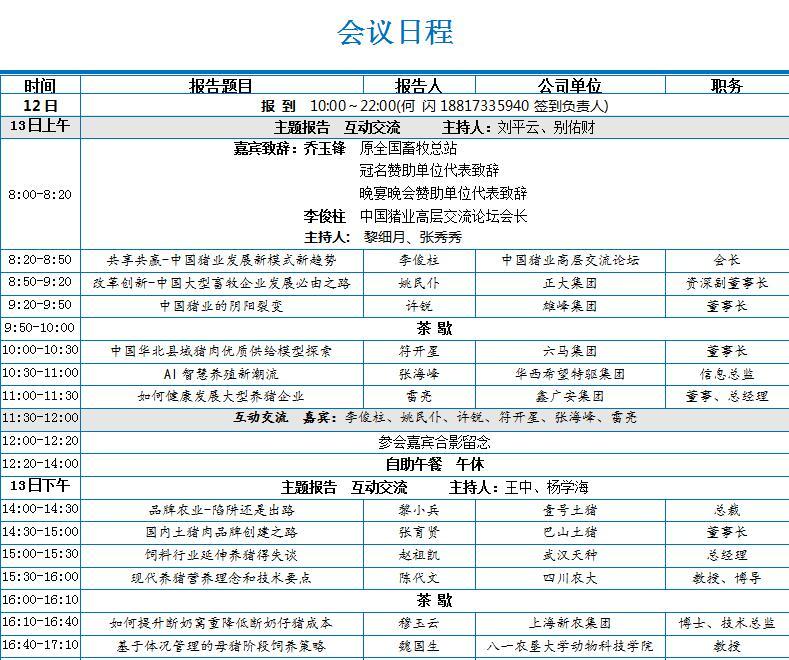 2018第四届中国猪业高峰论坛暨首届中国世界猪业博览会通知 邀请函3