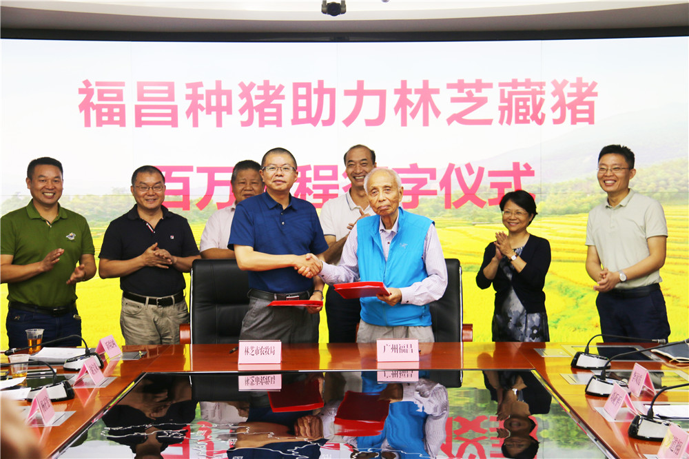 <b>福昌种猪助力林芝藏猪百万工程签字仪式成功举办</b>
