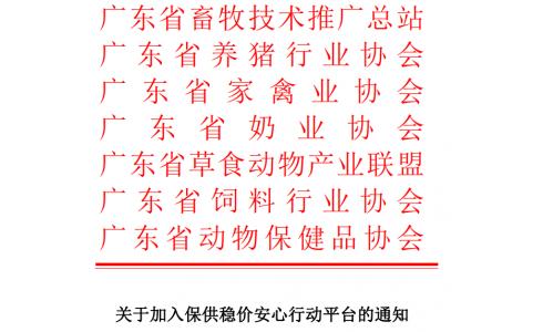 """抗疫复产保供!广东省畜牧总站联合六大行业协会发布加入""""保供稳价安心行动平台""""通知"""
