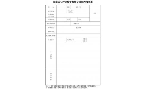 湖南天心种业股份有限公司生产技术中心技术专干招聘公告