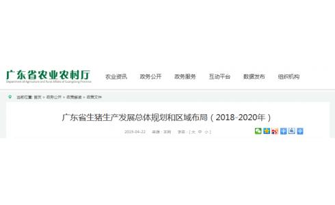 广东省生猪生产发