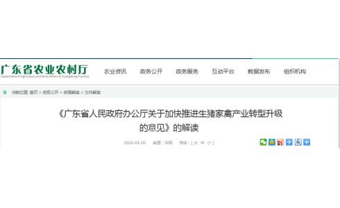 <b>《广东省人民政府办公厅关于加快推进生猪家禽产业转型升级的意见》的解读</b>