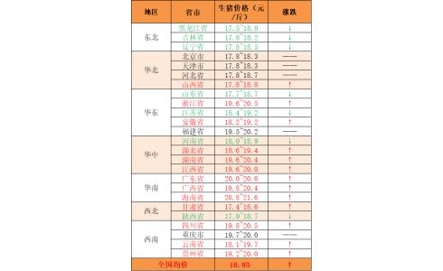2020年8月5日:猪价多地上涨,部分下跌,广东全线突破20元/斤